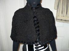 New fabulous designer 1300$ by Neiman Marcus Black Karakul Persian Lamb Fur Cape