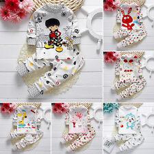 2 piezas Bebés Infantes Bebé Niño Niña ropa otoño Camiseta Suéter + pantalones