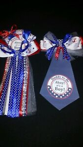 Nautical Sailor anchor Theme  baby shower corsage Mommy &  Daddy Tie To Be