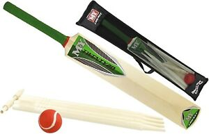 Cricket Bat Set Size 5 with Ball Stumps Bails Garden Family Toy Kids and Adults