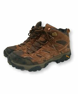 Merrell Men's Moab 2 Mid  Size 13 Waterproof Hiking Boots Earth Suede READ LOOK