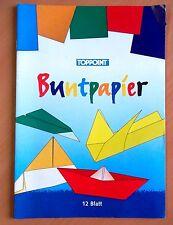 Buntpapier Bastelpapier A5 12 Blatt ungummiert Schule basteln Hobby