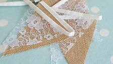MINI Hessian&Lace Bunting 1.50m/4.90ft  For Wedding,Home,Garden Decoration