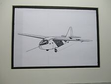 Chase CG 14 All Wood Troop Glider artist pen ink 1964 New York Worlds Fair