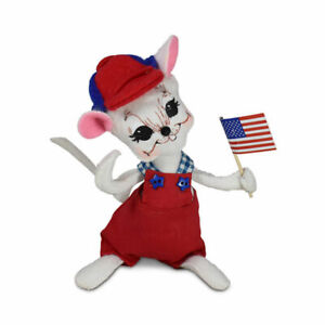 Annalee Dolls 2021 4th of July 6in Patriotic Boy Mouse Plush New with Tag