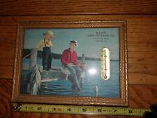 Vintage 1953 Elliot Farm Equipment fishing advertising thermometer Atwood Ill