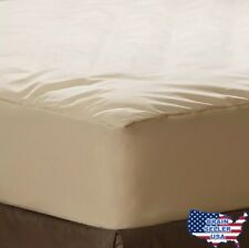 AllerEase Organic Cotton Cover Allergy Protection Waterproof Mattress Pad, Queen