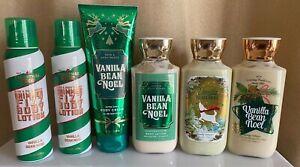 NEW 💖 Bath & Body Works VANILLA BEAN NOEL 5 PCS 💖 Shimmer/Cream/Lotion LOT