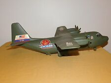 """VINTAGE MADE IN USA TOY 24"""" US ARMY  C-130 HERCULES PLASTIC AIRPLANE"""