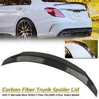 Carbon Fiber Heckspoiler Kofferraum Spoiler Flügel Für Mercedes BENZ W205 C63AMG