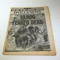 NY Daily News:9/13/2001, 10000 Feared Dead, Carrying Out the Dead at Ground Zero