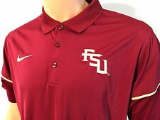 NEW Florida State Seminoles FSU Nike Polo Sideline Team Issued NCAA Size Large L