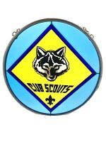 Cub Boy Scouts Stained Glass Made In USA Vintage