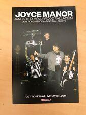 Joyce Manor Jan 19 2019 Hollywood Paladium Handbill