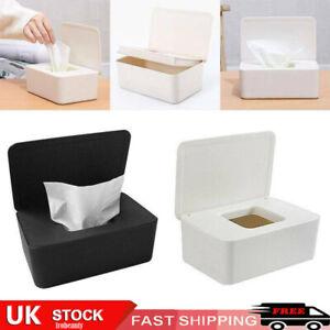Tissue Wet Wipes Dispenser Holder Paper Storage Box Case With Lid Bedroom Toilet