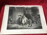 Thomas Webster RA Print From An Engraving By W Ridgway. Going To School C 1830