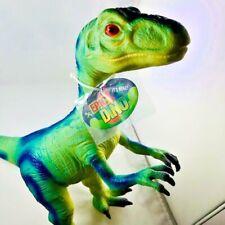 """New Epic Dino 22"""" So Giant Velociraptor Dinosaur Soft Vinyl By Toysmith"""