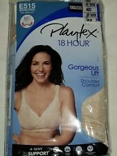 b7aca452e8 Bra Playtex 40D Gorgeous Lift E515 Soft Taupe Wire Free Shoulder Comfort 18  hour