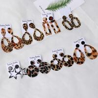 de goutte des boucles d'oreilles en léopard oreille étalon pendentif bijoux