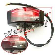 Black Cateye Red TAILLIGHT BRAKE LIGHT TAIL LAMP Universal Motorcycle ATV new