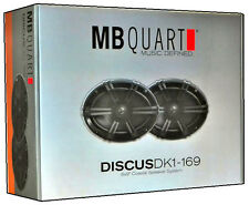 MB QUART DK1-169 180W Discus Coaxial Car Audio Stereo Speakers Pair New DK1169