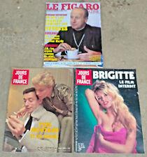 lot 3 ancien magazine  le figaro  jours de france