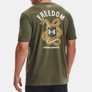 Under Armour Men's UA HeatGear Freedom Snake T-Shirt. Marine OD Green. 1365438