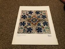 "(APBK19) PLATE/PRINT 11X9"" ORNAMENTAL DUTCH TILES - ITALIAN INFLUENCE"