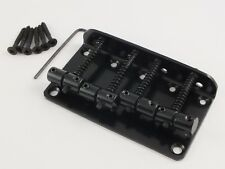 Black Bass Guitar Bridge para 4 Cuerdas Precision Y Jazz Bass Estilo Bass Guitarras