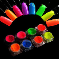 8Colors/set Glitter Dust Pigment Nail Art Powder DIY Manicure Neon Phosphor
