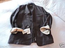 lux. italian brand COLOMBO urban coat jacket 52 EU NEW TAGS cashmere silk suede