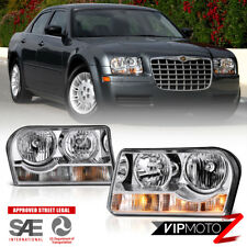 2005-2010 Chrysler 300 Factory Style Chrome Front LEFT RIGHT Headlights Assembly