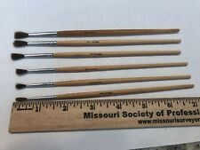 6 Pactra Round Paint Brushes # 1,2,3 00004000 ,4,5,6 Camel Hair Korea Art Crafts Brushes