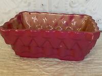 "UP-CO USA 100-6"""" Pottery Vintage Raspberry Ceramic Planter  Mid-Century Modern"