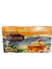Celestial Seasonings Tea Honey Vanilla Chamomile Herbal Caffeine Free 20 Ct