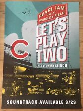 PEARL JAM - LIVE AT WRIGLEY FIELD - LET'S PLAY TWO MOVIE PROMO POSTER lp cd ost