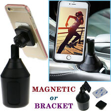 360° Magnetic Cup Holder Stand Cradle Sticky Car Mount for Mobile Smart Phone