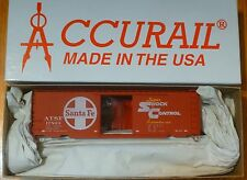 Accurail HO #3401.2 Santa Fe 40' PS-1 Steel Boxcar - Kit -- (red, white,