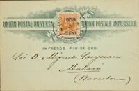 España. River Of Oro. Over 34. 1908. 2 Cts About 2 Pts Naranja. Card Postal D