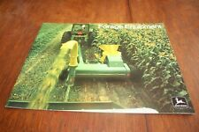 John Deere Forage Equipment Brochure Choppers Wagons Blowers 1973!