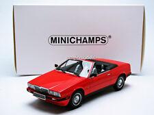Minichamps 1986 MASERATI BITURBO SPIDER Red in 1/18 Scale New!