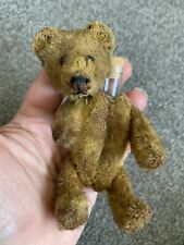 "Early Rare Antique Miniature 5"" Cinnamon Brown Mohair Schuco Perfume Bear"