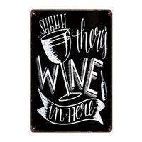 Metal Tin Sign wine theme funny sign Bar Pub Home Vintage Retro Poster Cafe ART
