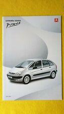 Citroen Xsara Picasso LX SX car brochure sales catalogue April 2000 MINT B