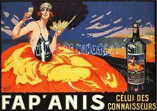 Fap' Anis - Delval  - affiche plastifiée