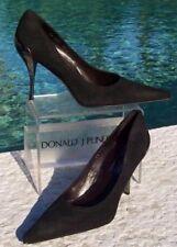 Donald Pliner Couture Suede Leather Shoe Pump New Size 5 Metal Heel $350 NIB