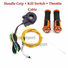 Throttle Cable Handle Grips Kill Switch For 50cc 60cc 80cc Gas Motorized Bicycle