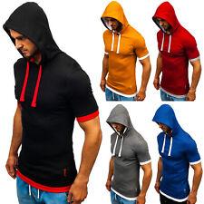 T-Shirt Tee Kurzarm Sport Kapuze Sommer Casual Herren Mix BOLF 3C3 Classic WOW