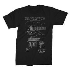Fender Guitar Tremolo Patent 1956 Printed  Men T-shirt