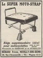 Y7716 Le Super Moto-Strap - Siége supplementaire - Pubblicità d'epoca - 1926 Ad